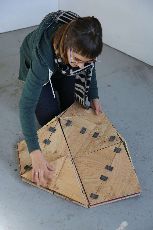 Expérimentations menées en atelier par Marie-Johanna Cornut en résidence