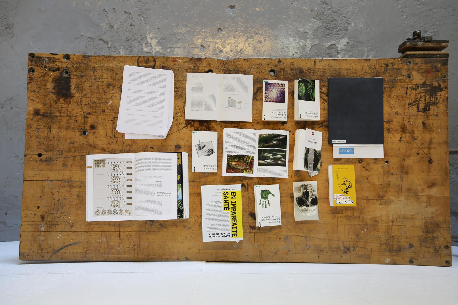 Vue de l'atelier de Sébastien Lacombez en résidence