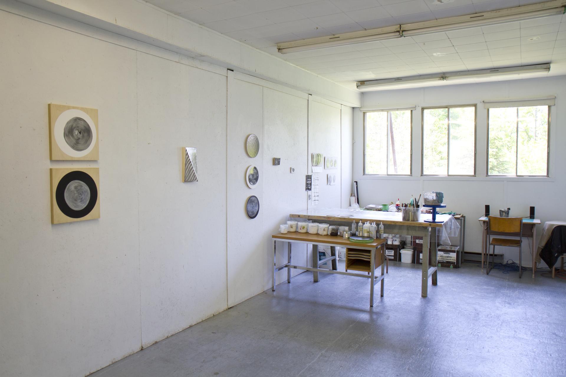 Expérimentations menées en atelier par Julie Trudel en résidence